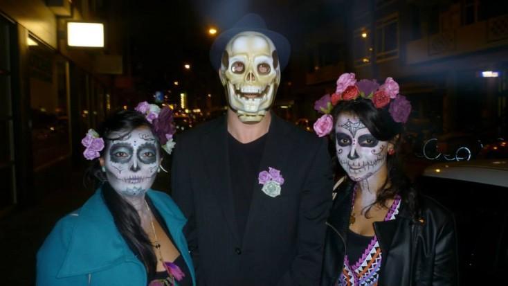 Ook in Nederland werd de Dia de los Muertos gevierd. Foto: Ruby Sanders