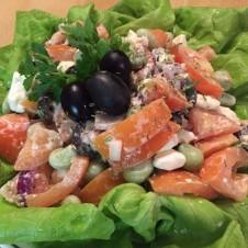 Recept een Peruaanse gerecht: salade Solterito de queso