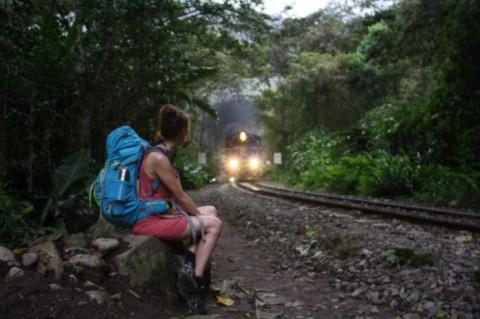 Onderweg van Hidroeléctrica naar Aguas Calientes - Foto: Javier Perugachi -
