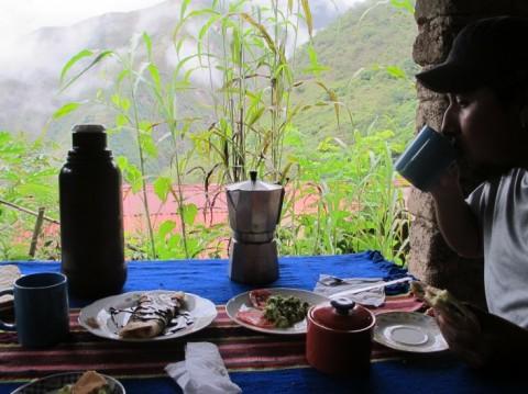 Ontbijt met een uitzicht in Casa del Mono - Foto: Lisa Couderé