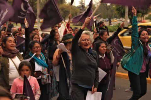 Movimiento Nacional Luna Creciente, Elva Ulcuango y Clara Merino.