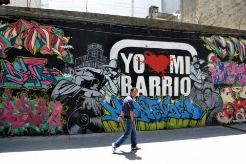 Straatkunst in Montevideo, Uruguay. Foto: Ruby Sanders